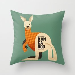 Hello Kangaroo Throw Pillow