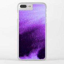 Indefinite Purple Clear iPhone Case