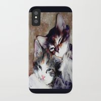 best friends iPhone & iPod Cases featuring best friends by Lydia Cheval