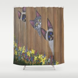 Three Little Kitties Shower Curtain