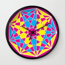 Broken Nonagon 3 Wall Clock