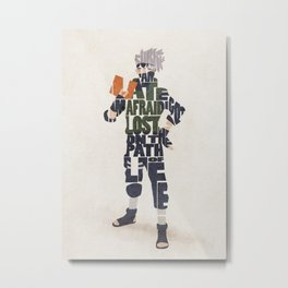 Typography Art of Kakashi Hatake Metal Print