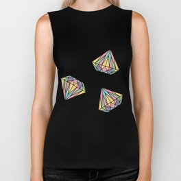 Colorful Diamonds Pattern - gemstones pattern Biker Tank