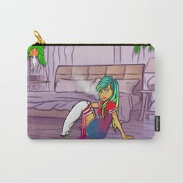 Purple Blazed, Smoking Lady Series Carry-All Pouch