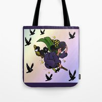 witch Tote Bags featuring Witch by Art-Motiva