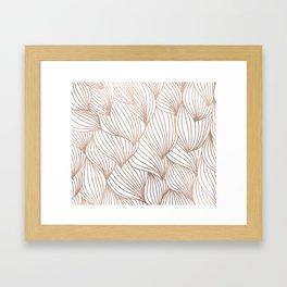 Rose gold petals Framed Art Print