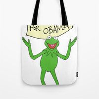 muppets Tote Bags featuring Muppets for Obama by Illustrated by Jenny