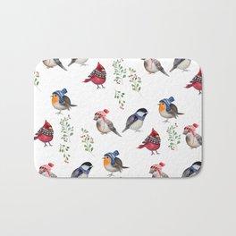Birds of a Christmas feather Bath Mat