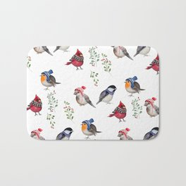 Birds of a Christmas feather Bath Mat