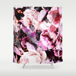 Roses in abstraction Shower Curtain