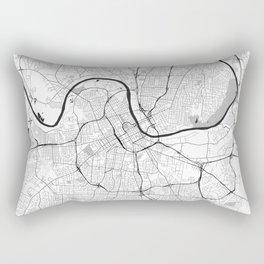 Nashville Map Gray Rectangular Pillow