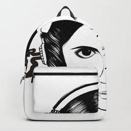Illustration Portrait Monochrome Backpack