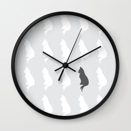 Missing Cat Wall Clock