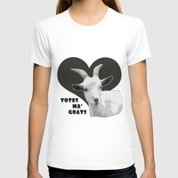 totes T-shirts featuring Totes Ma Goats - Grey by BACK to THE ROOTS