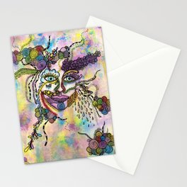 Abstract Face Stationery Cards
