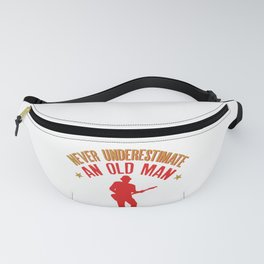 Mens Never Underestimate an Old man with a Guitar graphic Fanny Pack