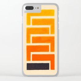 Orange & Black Geometric Pattern Clear iPhone Case