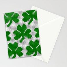 Shamrock pattern - white, green Stationery Cards