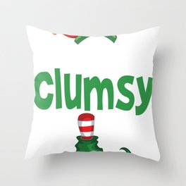 elf clumsy Throw Pillow