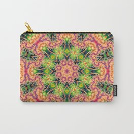BBQSHOES: Kaleioscopic Fractal Mandala 1543K2 Carry-All Pouch
