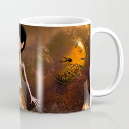 Steampunk, cute little steampunk girl Coffee Mug