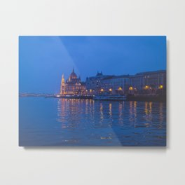 The parliament in Budapest. Metal Print