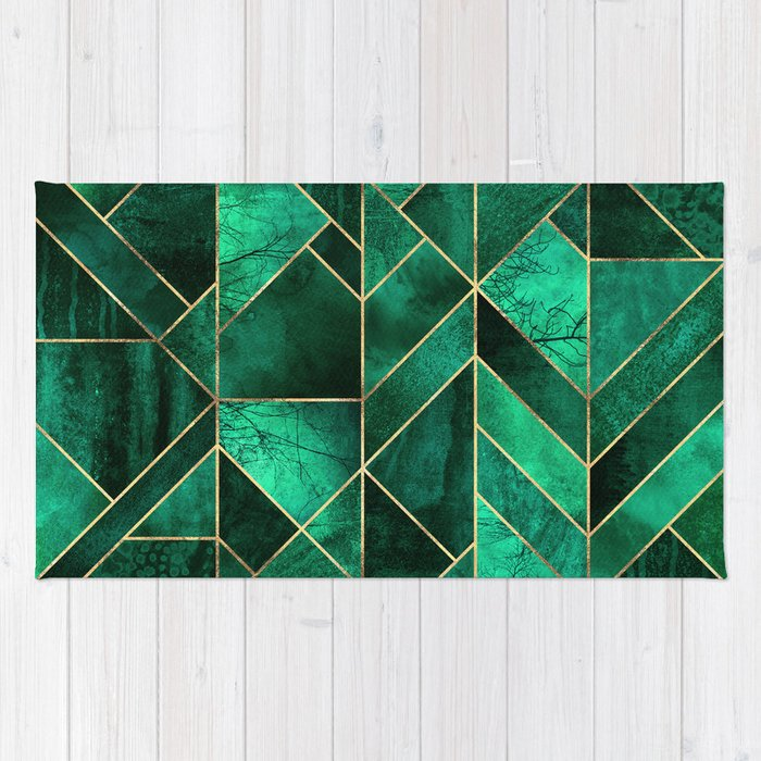 chindi chamba bohemian cotton green products rug