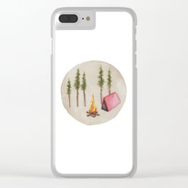 Campfire, Outdoorsy, Camping, Pine Trees, Camp Fire Clear iPhone Case