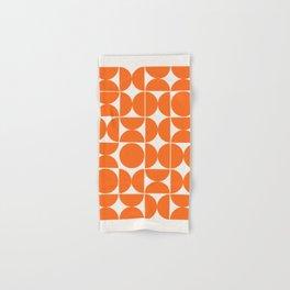 Mid Century Modern Abstract Poster Wall Art Print, Orange Blue Black Abstract Print, Retro Art, Livi Hand & Bath Towel