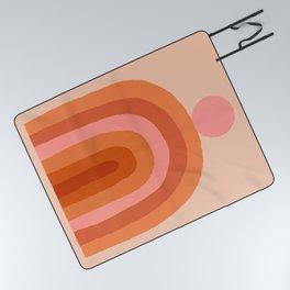 Abstraction_SUN_Rainbow_Minimalism_009 Picnic Blanket