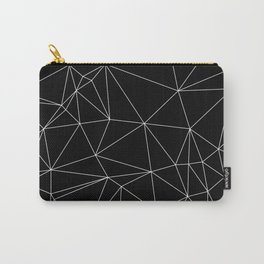Geometric Black and White Minimalist Pattern Carry-All Pouch
