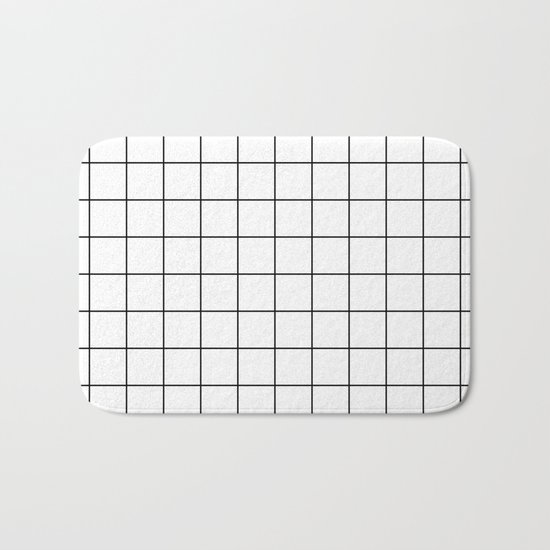 Grid Pattern Stripes Lines Black and White Minimalist Geometric Stripe Line by beautifulhomes