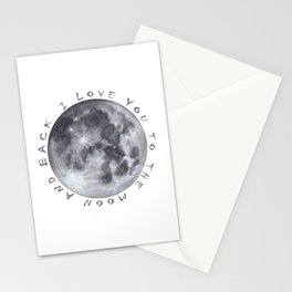 Full Moon Watercolour Stationery Cards