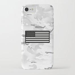 Arctic Camouflage: Black Flag iPhone Case