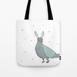 christmas pigeons Tote Bag