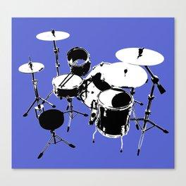 Drumkit Silhouette (backview) Canvas Print