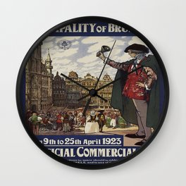 Vintage poster - Brussels Wall Clock