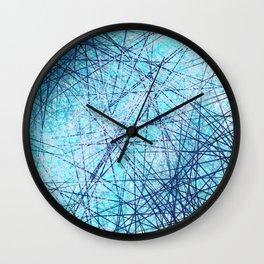 World Wide Web White & Blue Wall Clock