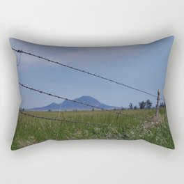 Bear Butte Barbed Wire Rectangular Pillow