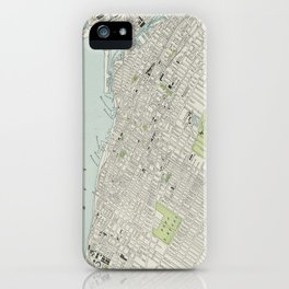 Vintage Map of Montreal (1901) iPhone Case