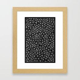 Connectivity - White on Black Framed Art Print