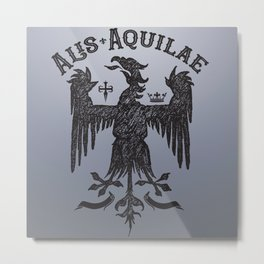 Vintage Illustration Alis Aquilae On Eagles Wings Latin Old School Art Metal Print