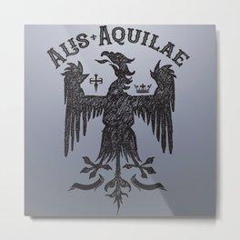 Vintage Illustration Alis Aquilae On Eagles Wings Latin Old School Art Metal Print