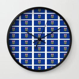 Flag of alberta -albertan,calgary,edmonton,athabasca,wild rose,berta,Louise. Wall Clock