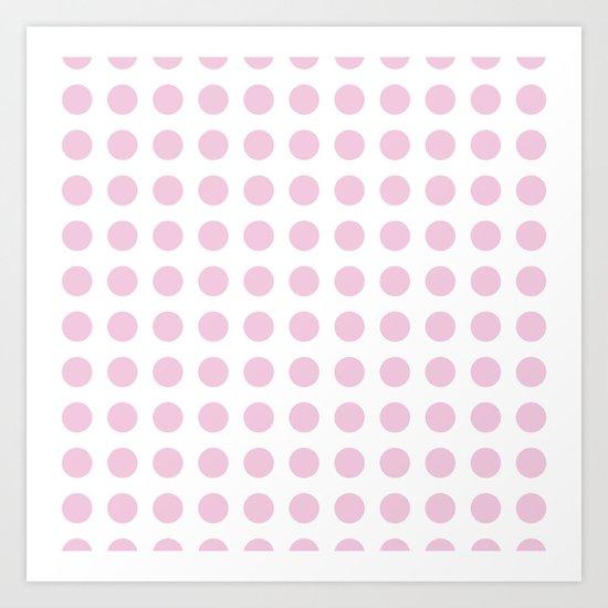 Simply Polka Dots in Blush Pink Art Print