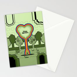 Two Balloon Unlocked Hearts Stationery Cards