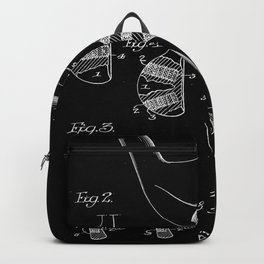 Golf Club Blueprint Patent Backpack