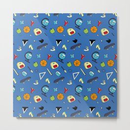 Colorful school pattern Metal Print