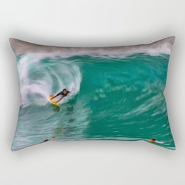 Backside Surfing at the Wedge Rectangular Pillow