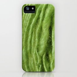Spring Green Yarn iPhone Case